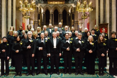 Picture of the choir at our February 2016 concert in St John's Cathedral, Norwich