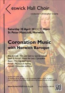 Coronation poster - colour