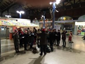 Carol singing December 2017
